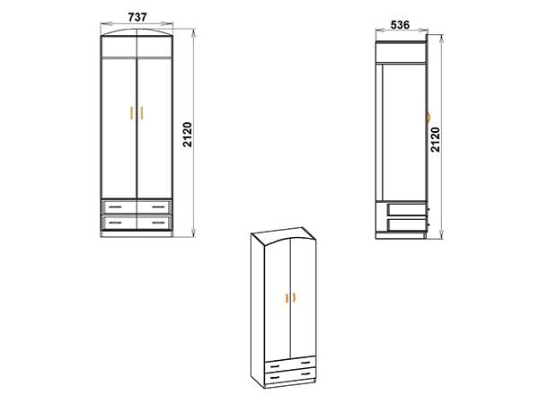 Шкаф для спальни ШКАФ-4