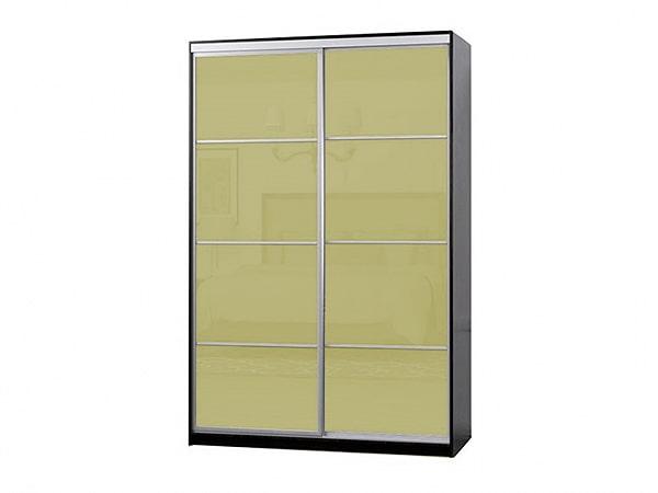 Шкаф-купе 2ДВ крашенное стекло с делителями (1200*600*2400)