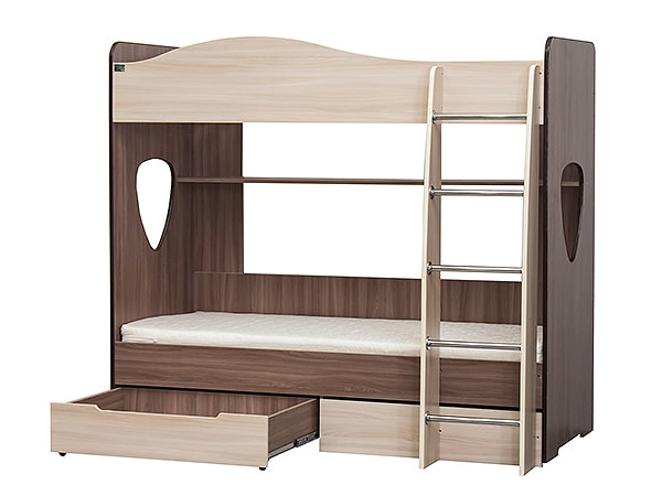 Двухъярусная детская кровать Симба